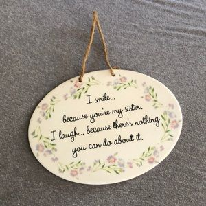 Home decoration plaque for sisters